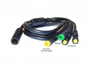 Kabelbaum Wasserdicht 4-fach BBS01 BBS02 BBS03 BBSHD G310 G320  und Nabenmotor