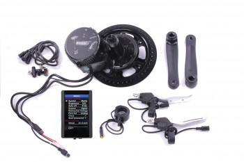 Farbdisplay E-Bike Umbausatz Mittelmotor 8FUN BAFANG G340 68mm BBS01 250W 36V 850C USB PEDELEC ( standard ) XT60