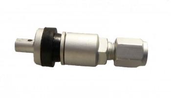 RDKS Alu Ventil silber für Schrader Gen4 und EZ Sensoren ( clamp in ) Metallventil , Zubehör