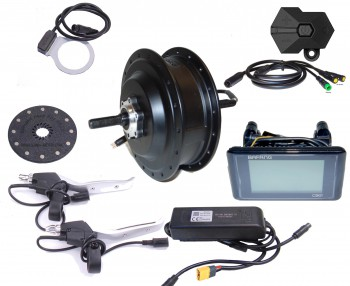 BAFANG 250W 36V Hinterrad f. Kassette 8/9/10 RWD Kit IP65 C961 G020 schwarz E-Bike Umbausatz Nabenmotor