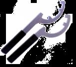 AdmiKey Storz Kupplungsschlüssel. B / C Griffteil m. Kälteschutz