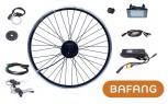 "BAFANG 500W 48V 26"" Hinterrad f. Kassette 8/9/10 RWD Kit IP65 C961 G020 schwarz eingespeicht E-Bike Umbausatz Nabenmotor"
